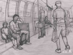 Perspective Drawing Lessons, Perspective Sketch, Composition Drawing, Picture Composition, Human Figure Sketches, Figure Sketching, Drawing Sketches, Pencil Drawings, Painting Courses
