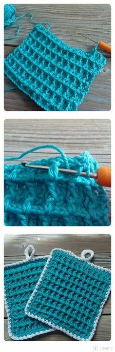 Die 10 Besten Bilder Von Topflappen Häkeln Bricolage Crochet
