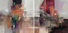 Sky Walker (Diptych) by Jennifer Davenport