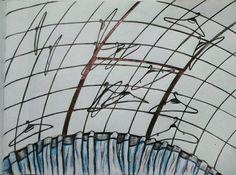 Ausencia de ropa y ausencia de todo/ Tinta sobre papel/ Por:Daniela Batalla