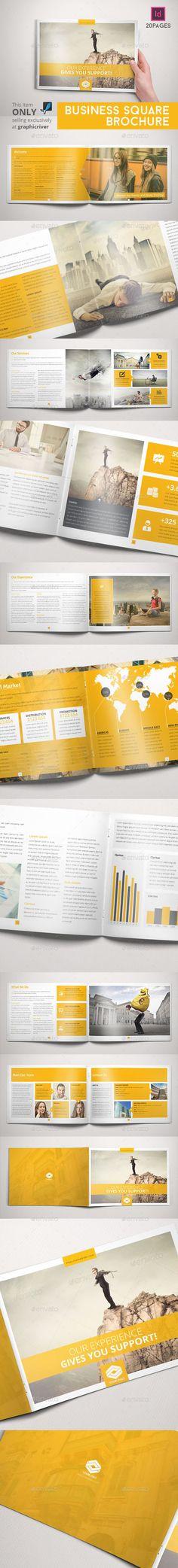 Business Brochure Indesign Horizontal - Informational Brochures