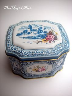 Elegance VINTAGE Tin Can Perfect for storing by TheMagickAttic