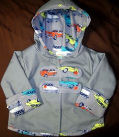 Adorable 2T Boys Reversible Lined Jacket Salmonberry Creek