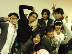 Hetalia Seiyuu Event 2011, Right to Left: Hiroki Takahashi (Japan), Ai Orikasa (Sealand), Daisuke Namikawa (Italy), Yuki Kaida (China), Hiroki Yasumoto (Germany), Aki Kanada (Chibitalia) and Go Inoue (Spain)