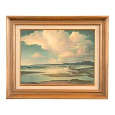 Contemporary Russell Moreton 'Morning California Seascape' Oil Painting on Chairish.com