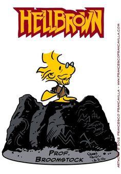Francesco Francavilla Illustrates Adorable 'Peanuts' and 'Hellboy' Mashups
