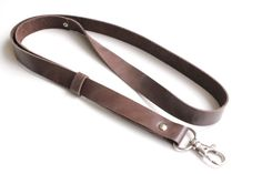 Leather lanyard, id badge, Leather Neck Strap, id badge lanyard, lanyard, keychain, key holder, ID holder, leather keychain