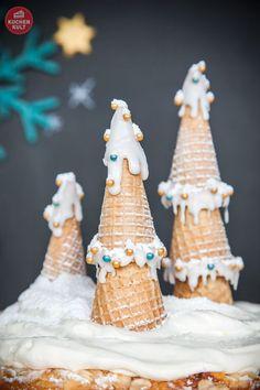 #Kuchen #Weihnachten, #Advent, #Tannen, #Schnee, #cake #xmas, #christmas, #snow, #tree