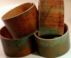 1.5 wide Leather Cuff Bracelet  Cuff by PriceLeatherworks on Etsy