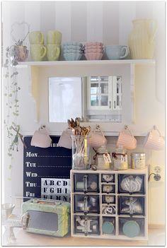 Lovely Swedish kitchen in beautiful colours