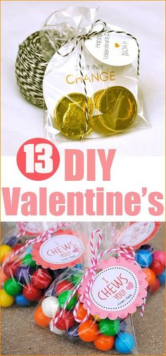 "13 DIY Valentines. Create your own Valentine's with these easy ideas. ""Punny"" Valentine's Day cards. Kid Valentine Cards."