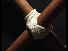 noeud brelage diagonal! diagonal lashing knot!.mp4