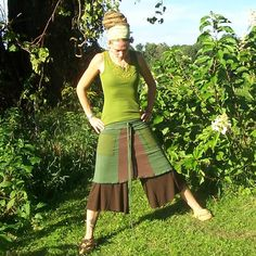 Love the wrap skirt, sweet idea putting it over some gauchos. $52.00