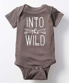 Loving this Charcoal 'Into The Wild' Bodysuit - Infant on #zulily! #zulilyfinds