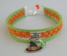 Pick COLOR / SIZE  Halloween Bracelet  Enamel Charm by BeMyCharm, $12.99