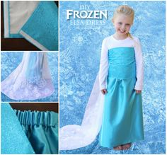 This DIY Elsa dress is perfect for dressing up and it's SEW easy to make yourself! Get the tutorial now.