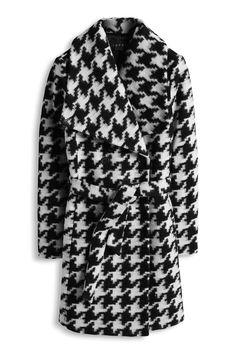 Esprit jakker & frakker til damer i Esprits Online-Shop Abaya Fashion, Fashion Wear, Keep Warm, Wool Coat, Houndstooth, Winter Coat, Neue Trends, Knit Cardigan, Coats For Women