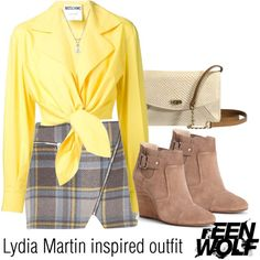 Lydia Martin inspired outfit/TW by tvdsarahmichele on Polyvore featuring moda, Moschino, River Island, Sole Society and UGG Australia