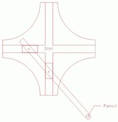 A Jig for Drawing or Cutting Ellipses – Woodworking Techniques Woodworking Software, Woodworking Quotes, Router Woodworking, Woodworking Patterns, Woodworking Techniques, Woodworking Projects Diy, Diy Wood Projects, Woodworking Tools, Cool Paper Crafts