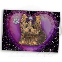 Yorkie Bling Cards