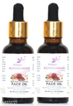 Checkout this latest Moisturizers Product Name: *Kumkumadi Natural Ayurveda Face Oil* Product Name: Kumkumadi Natural Ayurveda Face Oil Brand Name: Alphacia Type: Serums & Essence Multipack: 2 Country of Origin: India Easy Returns Available In Case Of Any Issue   Catalog Rating: ★4 (461)  Catalog Name: Make Up Kumkumadi Natural Ayurveda Face Oil CatalogID_1013236 C170-SC1950 Code: 872-6372721-795