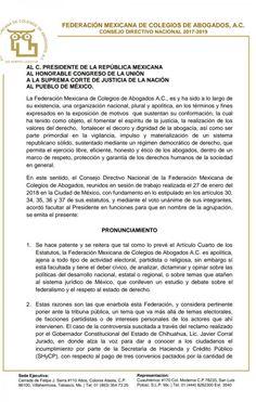 Exigen abogados de todo el país el cese de la politización de la justicia en el caso Chihuahua | El Puntero