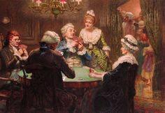 Brewtnall, Edward Frederick (b,1846)- Whist Party