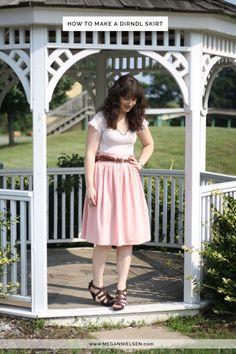 megan nielsen design diary: How to make a dirndl skirt