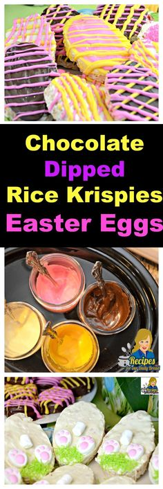 Are you looking for a cute Easter treat? Your kids and grandchildren will love Colorful Chocolate Dipped Rice Krispie Easter Eggs. THE BEST CHOCOLATE DIPPING MELTING TIP! YOU SHOULD Click here for full recipe and tips: http://recipesforourdailybread.com/rice-krispie-easter-eggs/
