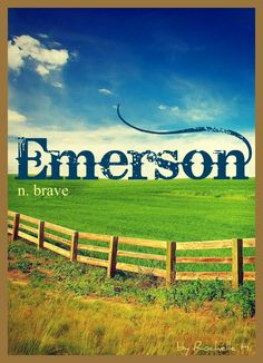 Baby Boy or Girl Name: Emerson. Meaning: Brave. Origin: English. http://www.pinterest.com/vintagedaydream/baby-names/