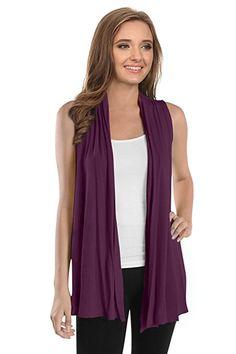 $16.99  Womens Sleeveless Cardigan Vest Open Front Asymmetrical Long Cardigan- USA at Amazon Women's Clothing store: