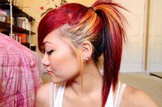 DIY Halloween Hair : Rainbow dyed ombre hair