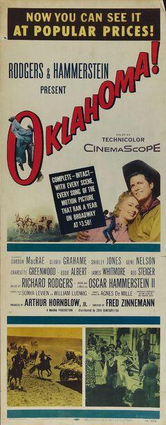 Gordon McRae Cult Western movie poster print 6 1955 Oklahoma!