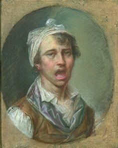 Jeune chanteur (self-portrait?) by Joseph Ducreux