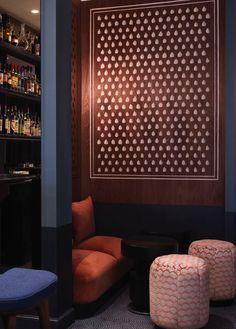 Night Flight Bar in the Hotel Bachaumont (Paris) Chzon (France)