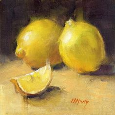 "Daily+Paintworks+-+""Lemons+•+2+(DP001)""+-+Original+Fine+Art+for+Sale+-+©+Nancy+Murty"
