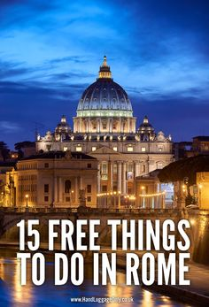15 Free Things To Do In Rome, Italy On A First Time Visit. Guide by Hand Luggage Only. Rome Vacation, European Vacation, European Travel, Italy Travel Tips, Rome Travel, Travel Guide, Free Things To Do In Rome, Places To Travel, Places To Go