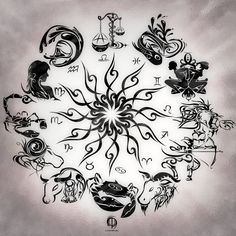 Zodiac+Wheel+With+Sign+Aries+Tattoo+Design+Kamistad+Celebrity tattoos зодиа Body Art Tattoos, Tribal Tattoos, Cool Tattoos, Symbols Tattoos, Henna Tattoos, Tattoo Art, Cusp Signs, Zodiac Signs, Sif Dark Souls