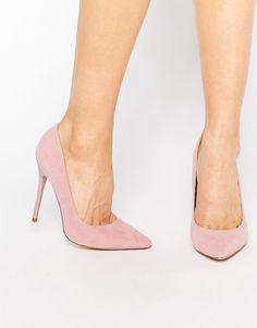 Image 1 ofPublic Desire Josie Pink Court Shoes