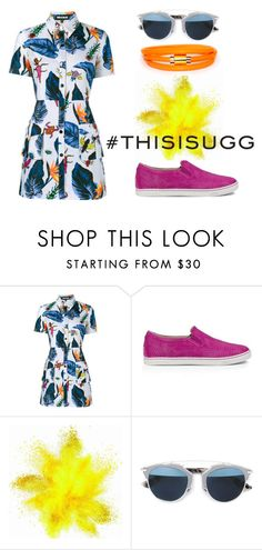 """""""Play With Prints In UGG: Contest Entry"""" by apparelently ❤ liked on Polyvore featuring House of Holland, UGG Australia, Christian Dior, Liza Schwartz and thisisugg"""
