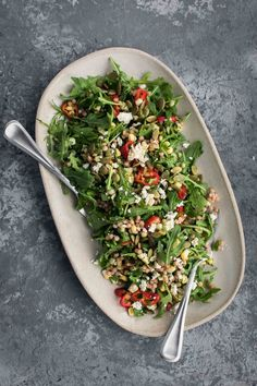 Sweet Corn Couscous Salad with Arugula