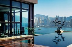 View from the Presidential Suite, The Intercontinental Hotel - Hong Kong