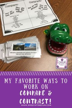 My Favorite Ways To Work On Compare and Contrast in Speech Therapy