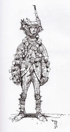 Assembling sketchbook artwork, found this old spacedude: