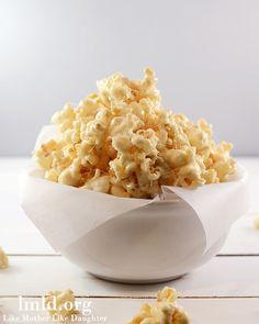 Marshmallow Caramel Popcorn, YUM!