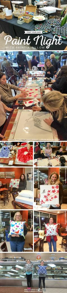 Cutting Edge Stencils shares how to start hosting your own painting party events using Paint-A-Pillow. http://paintapillow.com/
