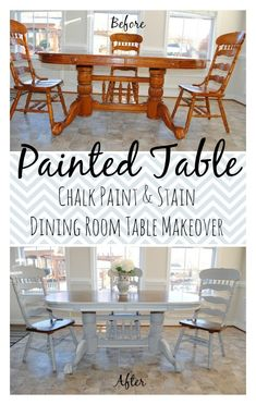 Painted Kitchen Tables, Diy Dining Room Table, Dining Table Makeover, Kitchen Table Makeover, A Table, Wood Table, Dining Set, Refinishing Kitchen Tables, Dining Nook