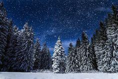 Sneh, Príroda, Noc, Cestovanie