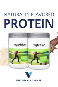 Mytrition Protein Blend was formulated to be the perfect protein supplement for those looking for a natural product with no added artificial flavors, colors, or sweeteners. Our Natural Protein is a blend of Whey Protein Concentrate and Milk Protein Isolate, for a delicious, decadent texture and flavor. Find your mix, exclusively at The Vitamin Shoppe.