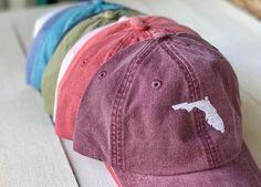 a2f51f7f0e14b Custom State Hat State Pride Hat Dad Hat Leather Strap